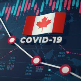 COVID-19 Coronavirus Canada Economic Impact Concept Image.